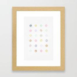 Pastel Candy Dots Framed Art Print