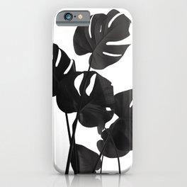 Monstera Leaves Black & White Vibes #1 #minimal #decor #art #society6 iPhone Case