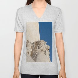 Monument of the Discoveries detail Unisex V-Neck