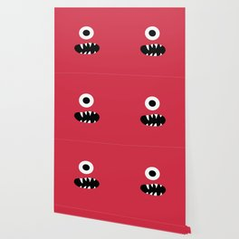 Kids Silly Red One Eyed Monster Wallpaper