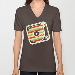 Retro Record Unisex V-Neck