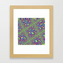 Green Lattice Framed Art Print