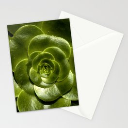 Green leave Stationery Cards