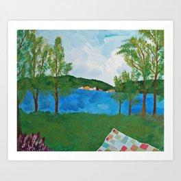 Squantz Pond Art Print