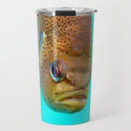 Watercolor Fish Bluegill Sunfish 01, Blue Grotto, Florida Travel Mug
