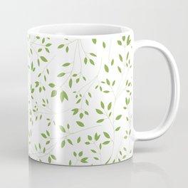 Leaves Pattern in Green & White Coffee Mug