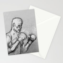 prizefighter sports boxing design Stationery Cards