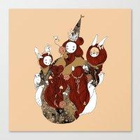 pagan Canvas Prints featuring pagan circle by Tina + Wolf
