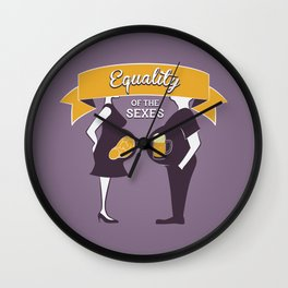 Equality of the sexes Wall Clock