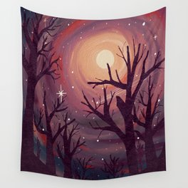 Pinky Night Under The Stars Wall Tapestry