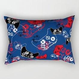 Video Game Red White & Blue 1 Rectangular Pillow