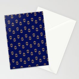 Kingly Design Gold on Royal Blue Stationery Cards