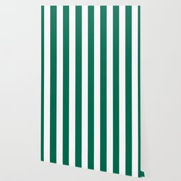Bangladesh green - solid color - white vertical lines pattern Wallpaper