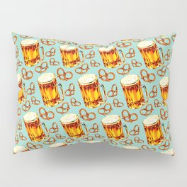 Beer & Pretzel Pattern Pillow Sham
