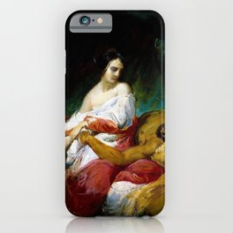 Horace Vernet - Judith And Holofernes - Digital Remastered Edition iPhone Case