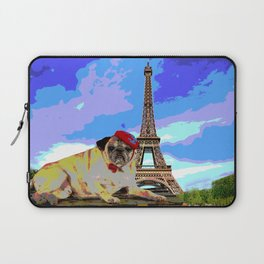 A Pug in Paris Laptop Sleeve