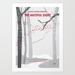 No502 My Hateful eight minimal movie poster Art Print