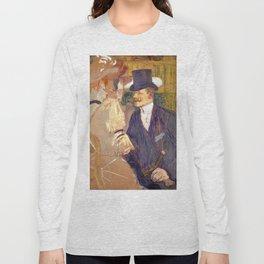 "Henri de Toulouse-Lautrec ""The Englishman (William Tom Warrener, 1861–1934)"" Long Sleeve T-shirt"