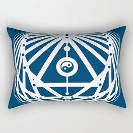Radiant Abundance (blue-white) Rectangular Pillow