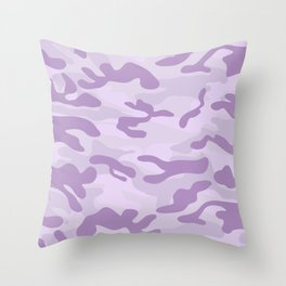 light Purple Military Camouflage Pattern Throw Pillow