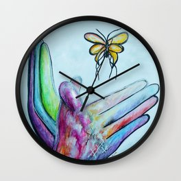 American Sign Language BUTTERFLY Wall Clock