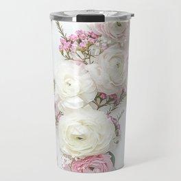 SPRING FLOWERS WHITE & PINK Travel Mug
