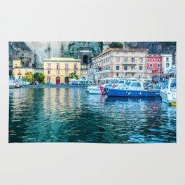 Marina in Sorrento, Italy Rug