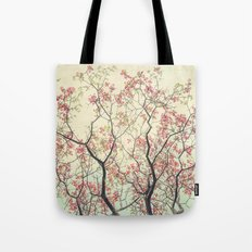 Pink Dogwood Tree Branches in Spring Tote Bag