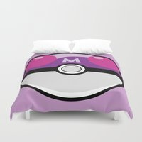 pokeball Duvet Covers featuring Master Pokeball by Pi Design Prints