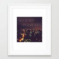 the perks of being a wallflower Framed Art Prints featuring PERKS OF BEING A WALLFLOWER  by Sjaefashion