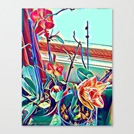 Ochids in Winter Canvas Print