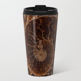 Brown Ammonite Travel Mug