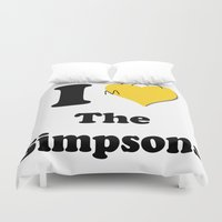simpsons Duvet Covers featuring I Love the Simpsons - Homer Heart by High Design