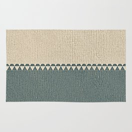 Texture Taupe and Grey Green Pattern Rug