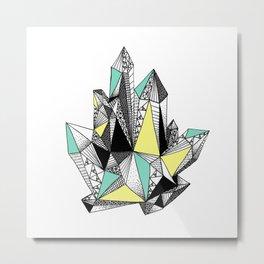 Crystal 4-white Metal Print