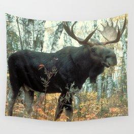 Huge Moose Wall Tapestry