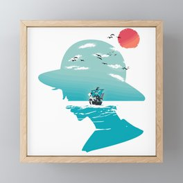 The King of Pirates Framed Mini Art Print