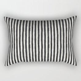 geo brush stripe vertical Rectangular Pillow