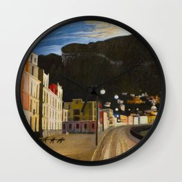 Castellammare di Stabia, Bay of Naples, Italy panoramic portrait by Csontváry Kosztka Tivadar Wall Clock