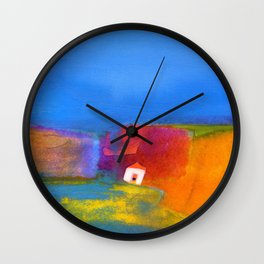 the little white house Wall Clock