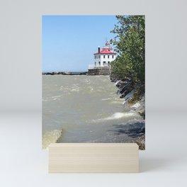 """Fairport Harbor Lighthouse"" Photography by Willowcatdesigns Mini Art Print"