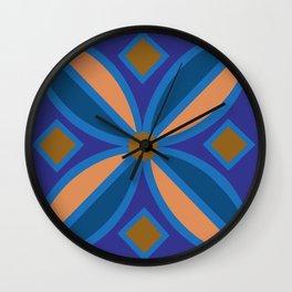Blue Pattern Wall Clock