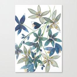 Blue Floral Canvas Print