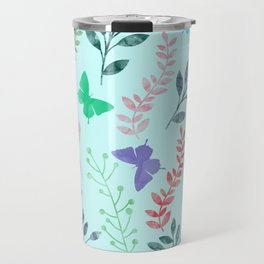 Watercolor flowers & butterflies II Travel Mug