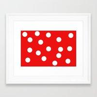 polka dot Framed Art Prints featuring Polka dot by Pirmin Nohr