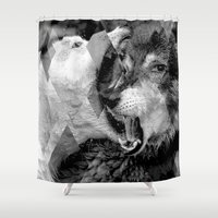 wolves Shower Curtains featuring Wolves by Ricca Design Co.