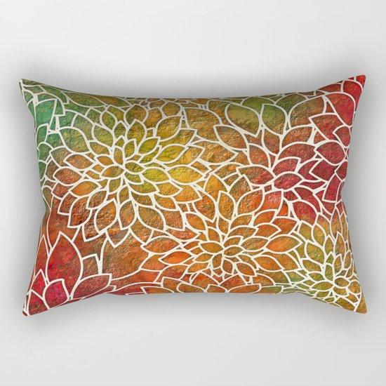 Floral Abstract 15 Rectangular Pillow