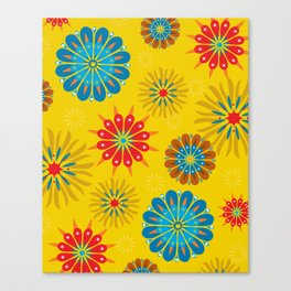 Psycho Flower Gold Canvas Print