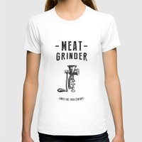 meat T-shirts featuring Meat Grinder by UiNi