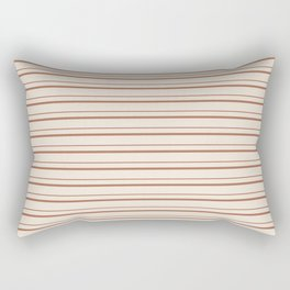 Sherwin Williams Cavern Clay Warm Terra Cotta SW 7701 Horizontal Line Patterns 3 on Creamy Off White Rectangular Pillow
